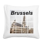 Brussels Square Canvas Pillow