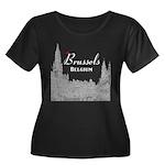 Brussels Women's Plus Size Scoop Neck Dark T-Shirt