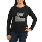 Brussels Women's Long Sleeve Dark T-Shirt