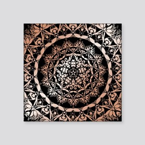 Rose Gold Black Floral Mandala Sticker