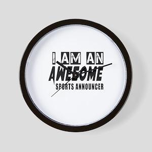 I Am Sports announcer Wall Clock