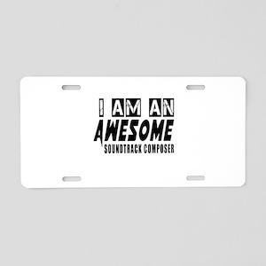 I Am Soundtrack composer Aluminum License Plate