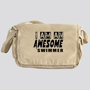 I Am Swimmer Messenger Bag