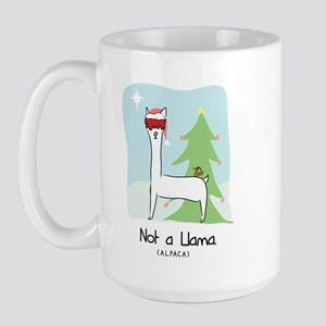 Larry Not a Llama Christmas Large Mug