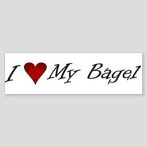 I Love My Bagel Bumper Sticker