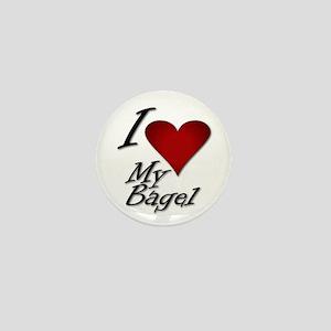 I Love My Bagel Mini Button