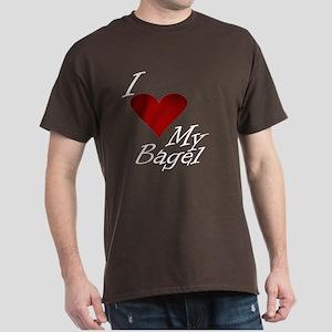 I Love My Bagel Dark T-Shirt