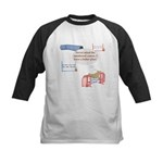 Numbered Course Kids Baseball Jersey