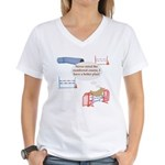 Numbered Course Women's V-Neck T-Shirt