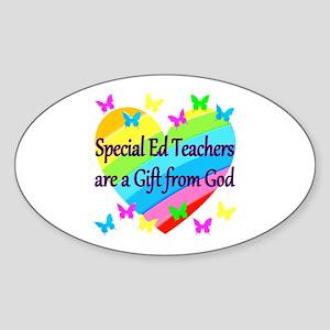 TEACHER PRAYER Sticker (Oval)