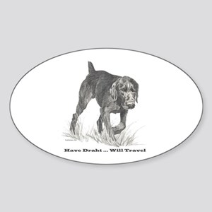 German Wire Hair Pointer slogan Oval Sticker
