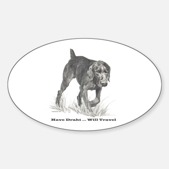 German Wire Hair Pointer slogan Oval Decal