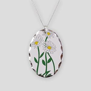 Daisy Necklace Oval Charm