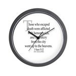 Biblical Hemorrhoids Wall Clock