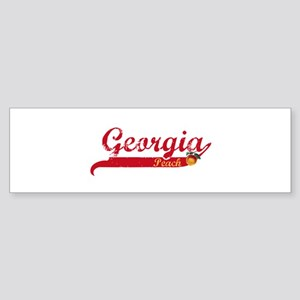 Georgia Peach - Red Bumper Sticker
