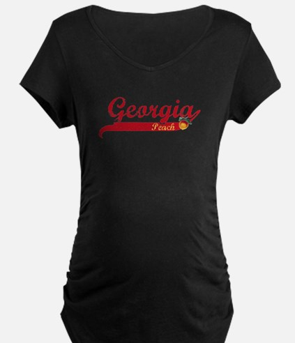 Georgia Peach - Red T-Shirt
