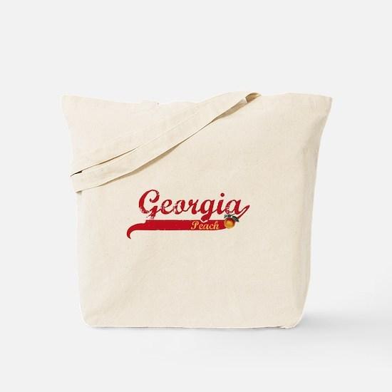 Georgia Peach - Red Tote Bag
