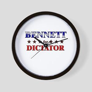 BENNETT for dictator Wall Clock