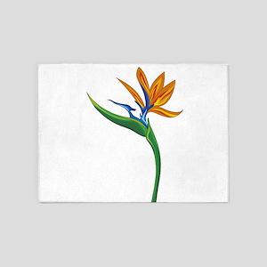 Strelitzia flower 5'x7'Area Rug