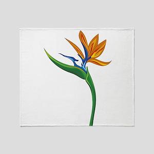 Strelitzia flower Throw Blanket