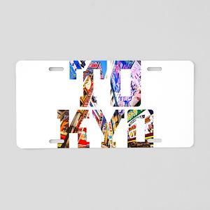 Japan Tokyo Typography Aluminum License Plate