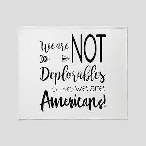 Deplorable - Basket of Deplorables Throw Blanket
