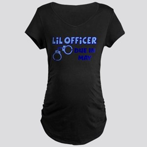 Lil Officer Due In Maternity T-Shirt