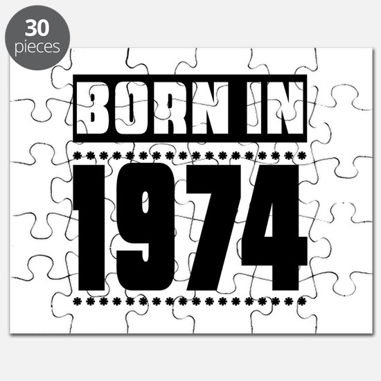 Born In 1974 Birthday Designs Puzzle