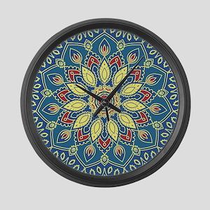 Mandala Flower Large Wall Clock