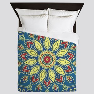Mandala Flower Queen Duvet