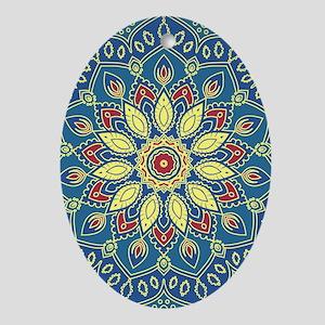 Mandala Flower Oval Ornament
