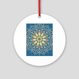 Mandala Flower Round Ornament