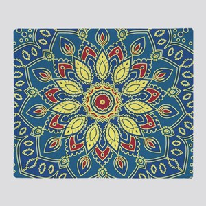 Mandala Flower Throw Blanket