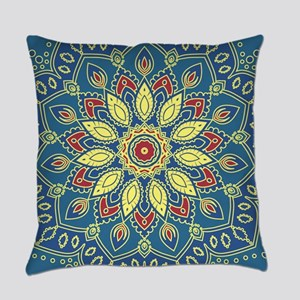 Mandala Flower Everyday Pillow