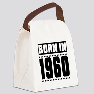 Born In 1960 Birthday Designs Canvas Lunch Bag