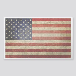 American Distress Flag 4th of July Sticker