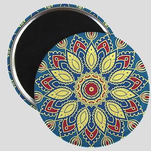 Mandala Flower Magnets