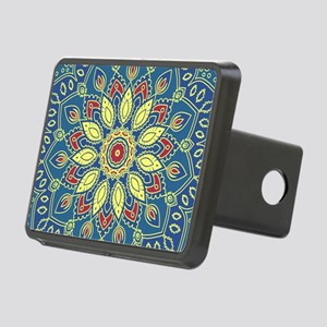 Mandala Flower Rectangular Hitch Cover