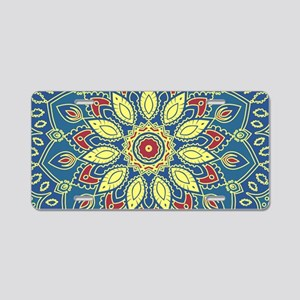 Mandala Flower Aluminum License Plate