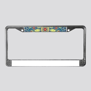 Mandala Flower License Plate Frame