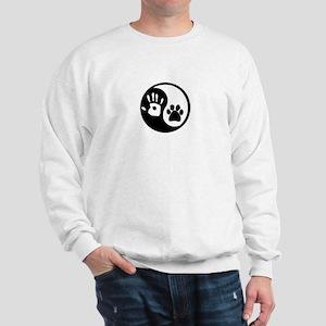 Ying Yang Paw Hand Sweatshirt