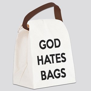 God Hates Bags Canvas Lunch Bag