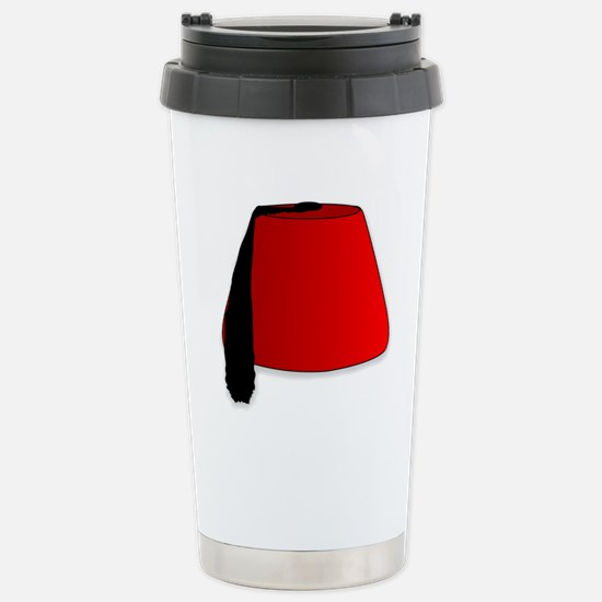 Cartoon Style Fez Stainless Steel Travel Mug