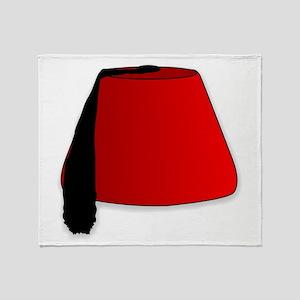 Cartoon Style Fez Throw Blanket