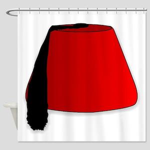 Cartoon Style Fez Shower Curtain