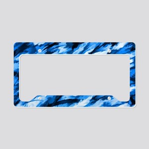 Designer Camo in Blue License Plate Holder