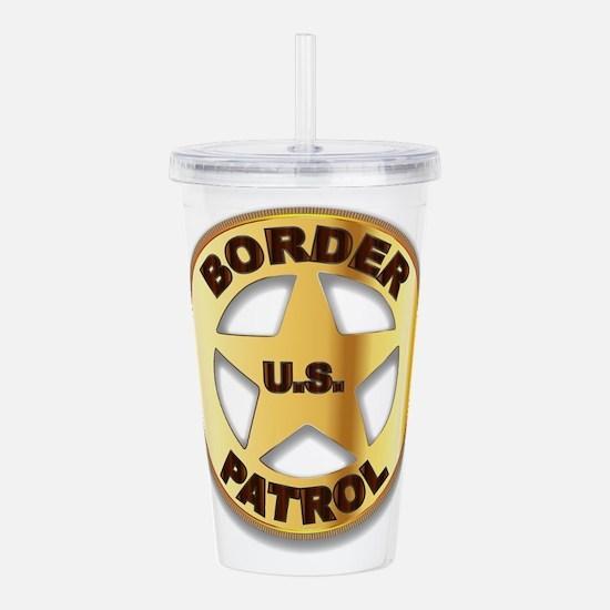 Border Patrol Badge Acrylic Double-wall Tumbler
