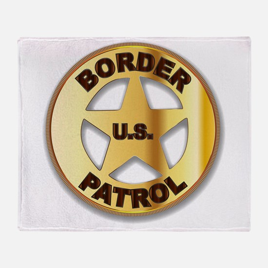 Border Patrol Badge Throw Blanket