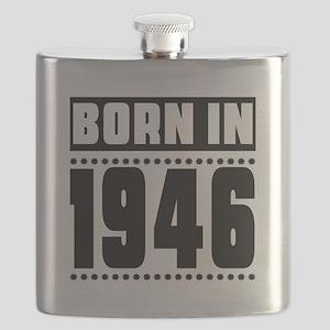Born In 1946 Birthday Designs Flask