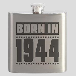 Born In 1944 Birthday Designs Flask